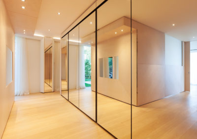 Refined wooden floor minimal interior